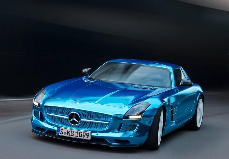 mercedes-benz-sls-amg-electric-drive самый быстрый автомобиль электрокар